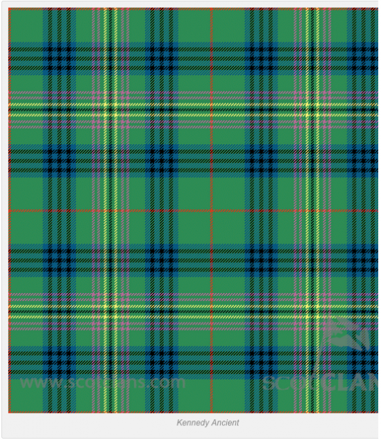 Ancient Tartan for Clan Kennedy