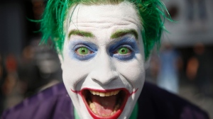 Cosplayer as the Joker