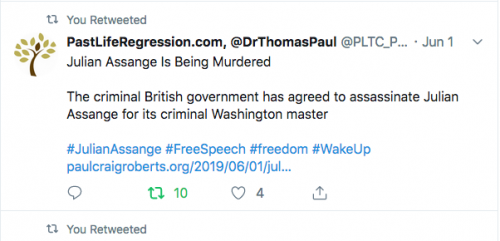 Dr claims the Britts intend to assassinate Julian Assange