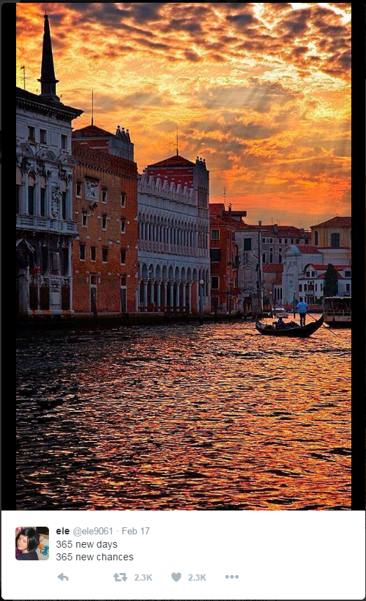 Venice? Near sunrise or sunset?