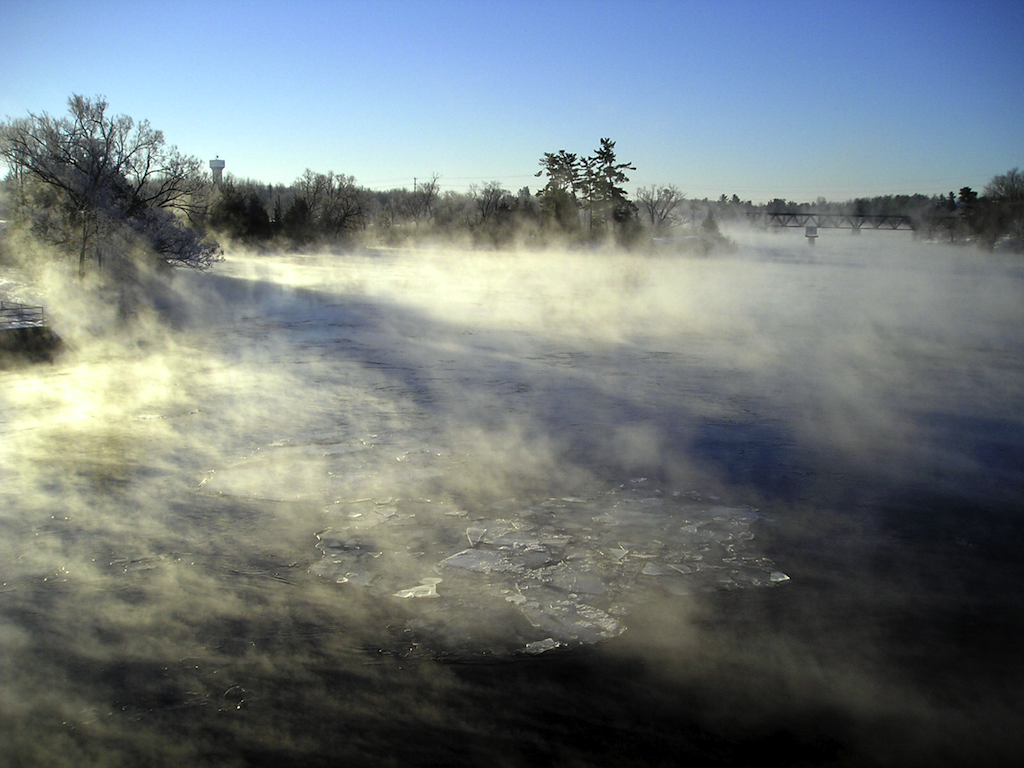 Madawaska (Ontario) River Fog.